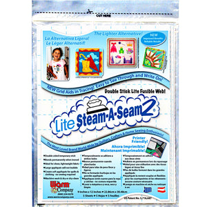 "Lite Steam A Seam 2 #5417 - 5 Sheets 9""X12"" in each package - by The Warm Company"