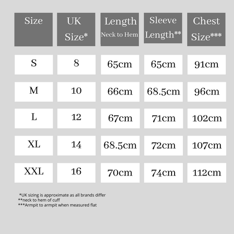 Size Guide for Green and White St Etienne Breton Tee from The Breton Shirt Co