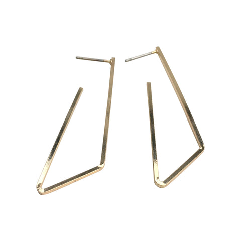 Gold Geometric Stud Earrings