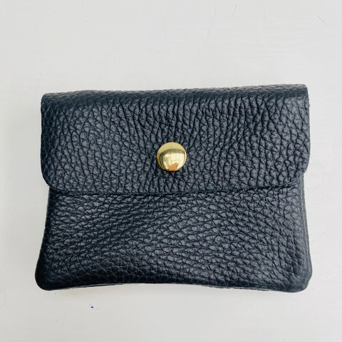Black Soft Leather Small Purse