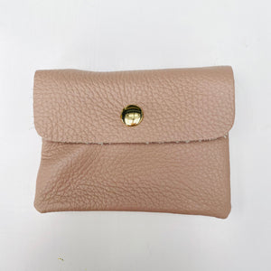 Dusky Pink Soft Leather Small Purse