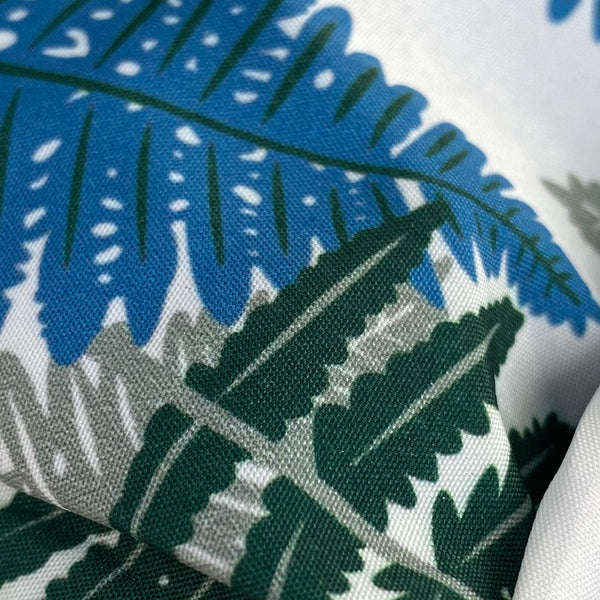 Fern Print Elasticated Headband White Blue Green