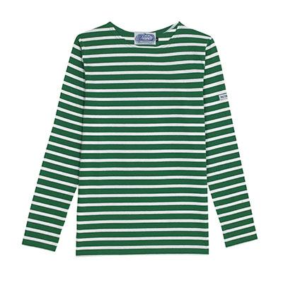 Green and White Breton Tee
