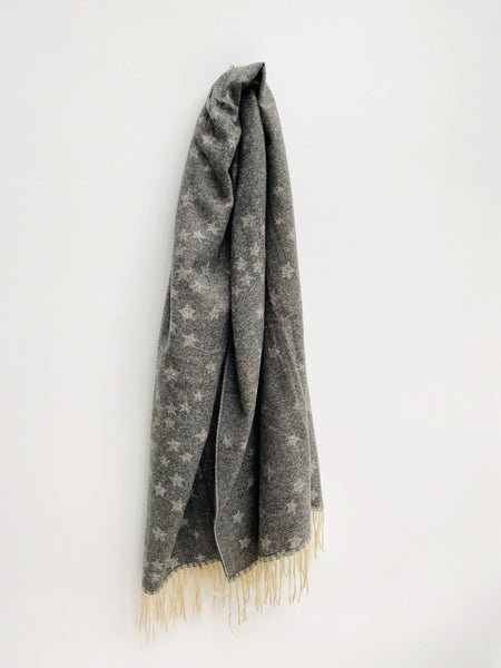 Soft Grey Star Blanket Scarf