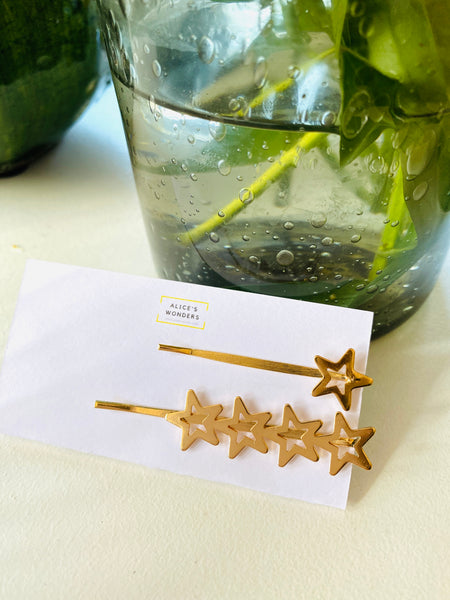 Gold Star Hair Clip (Set of Two)