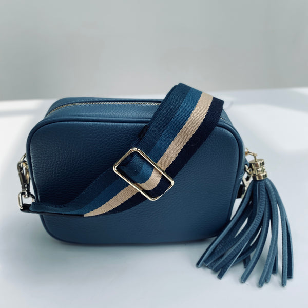 Blues and Stripe Bag Strap