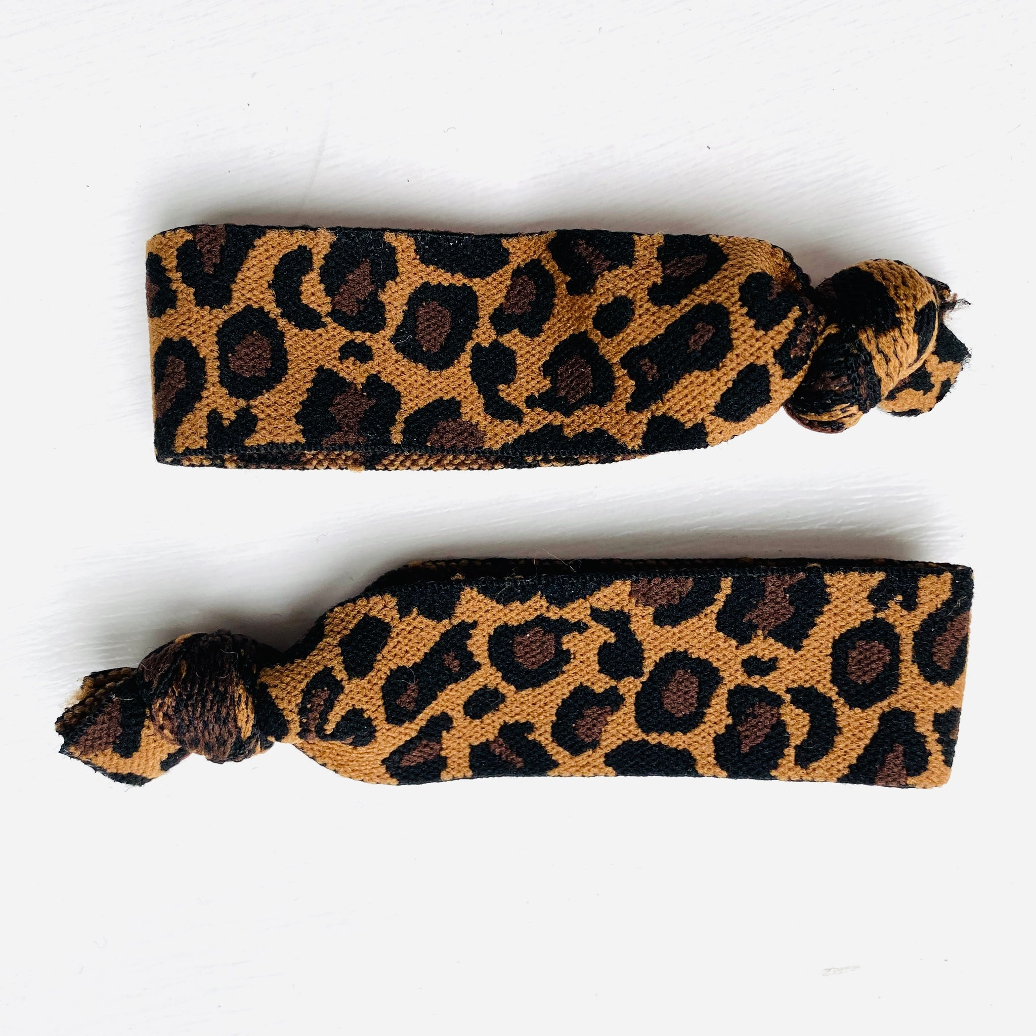 Leopard Print Hair Elastics (Set of Two)