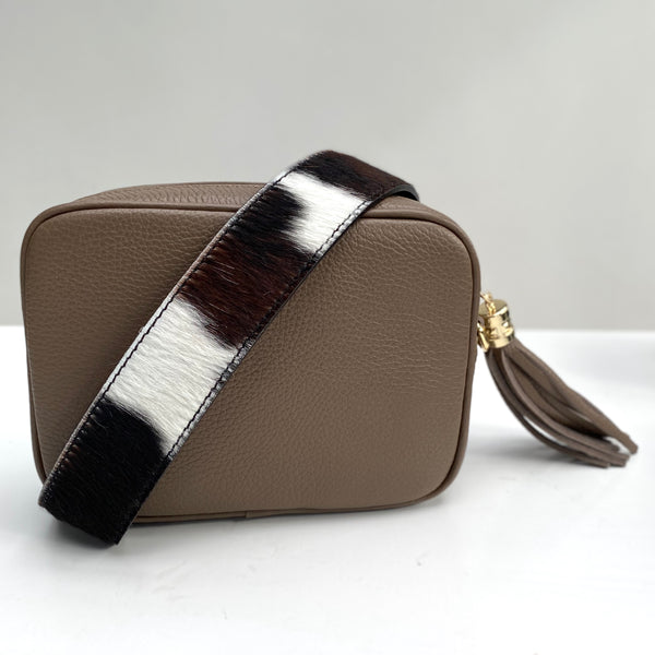Ponyskin Leather Bag Strap