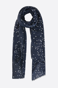 Navy Blue and White Star Scarf
