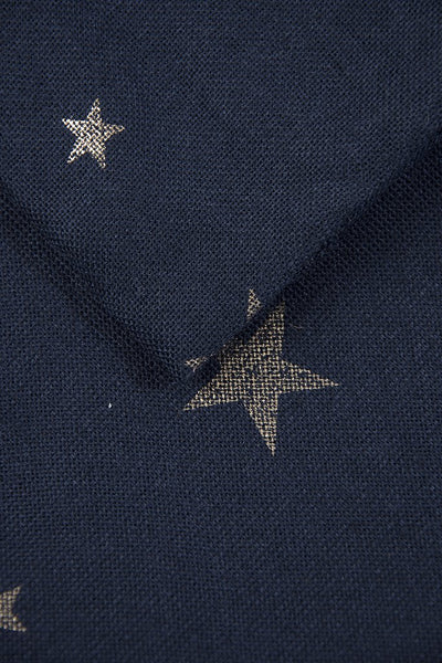 Navy and Copper Star Scarf