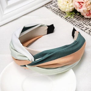 Green and Pink Abstract Print Headband