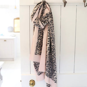 Nude Pink Leopard Print Scarf  from Lisa Angel