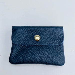 Navy Soft Leather Small Purse
