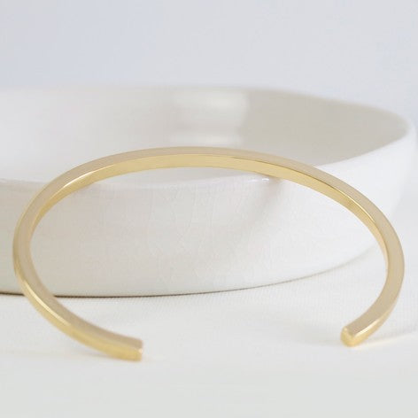 Polished Gold Bar Bangle from Lisa Angel at Alice's Wonders