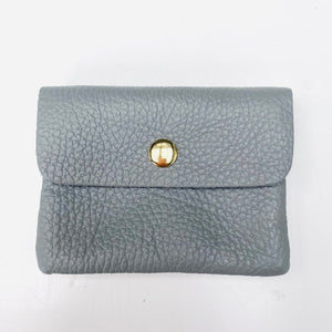 Pale Grey Soft Leather Small Purse