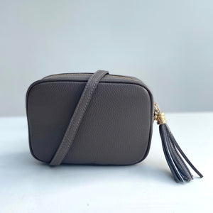 Putty Leather Tassel Cross Body Bag