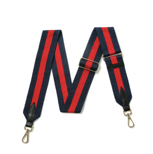 Navy and Red Stripe Bag Strap