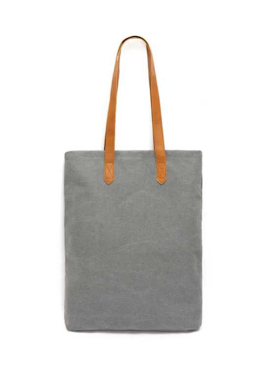 Grey Canvas Tote Bag