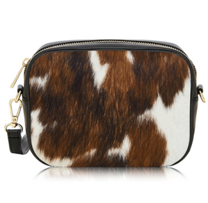 Ponyskin Leather Cross Body Bag
