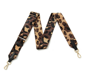 Black and Brown Animal Print Bag Strap