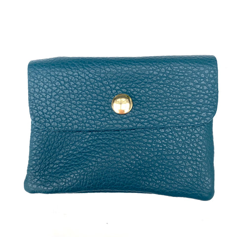 Teal Soft Leather Small Purse