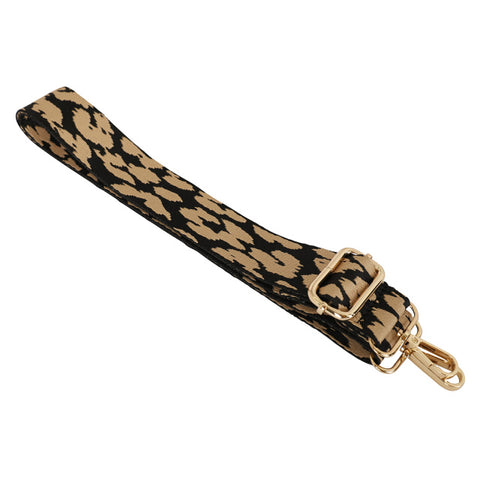 Taupe and Black Animal Print Bag Strap
