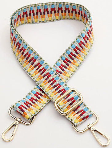 Aztec Multi Coloured Bag Strap