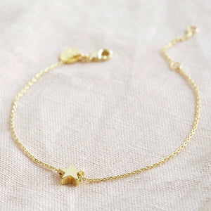 star bead bracelet in gold from Lisa Angel at Alice's Wonders