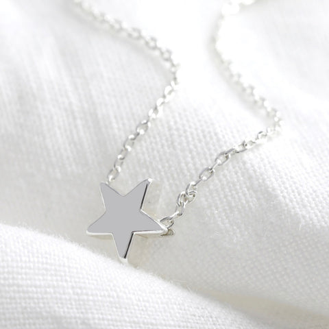 star bead necklace in silver from Lisa Angel at Alice's Wonders