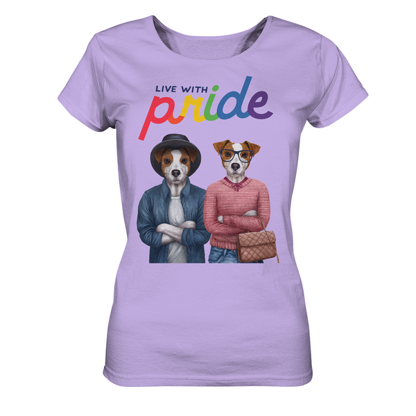 Live with Pride: Jack-Russell-Damen-Shirt mit LGTBQ-Statement - wauwau-wow.com