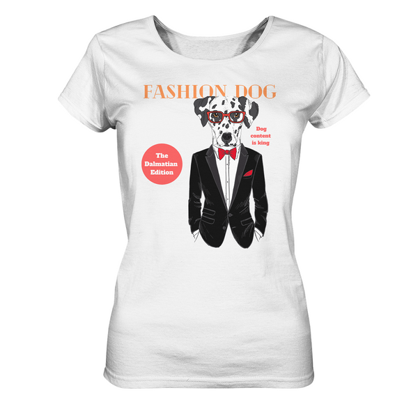 """Fashion Dog"": Organic Damen-T-Shirt mit Dalmatiner-Motiv - wauwau-wow.com"