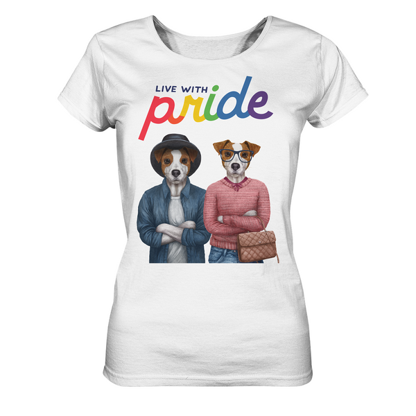 Live with Pride: Jack-Russell-Damen-Shirt mit LGTBQ-Statement