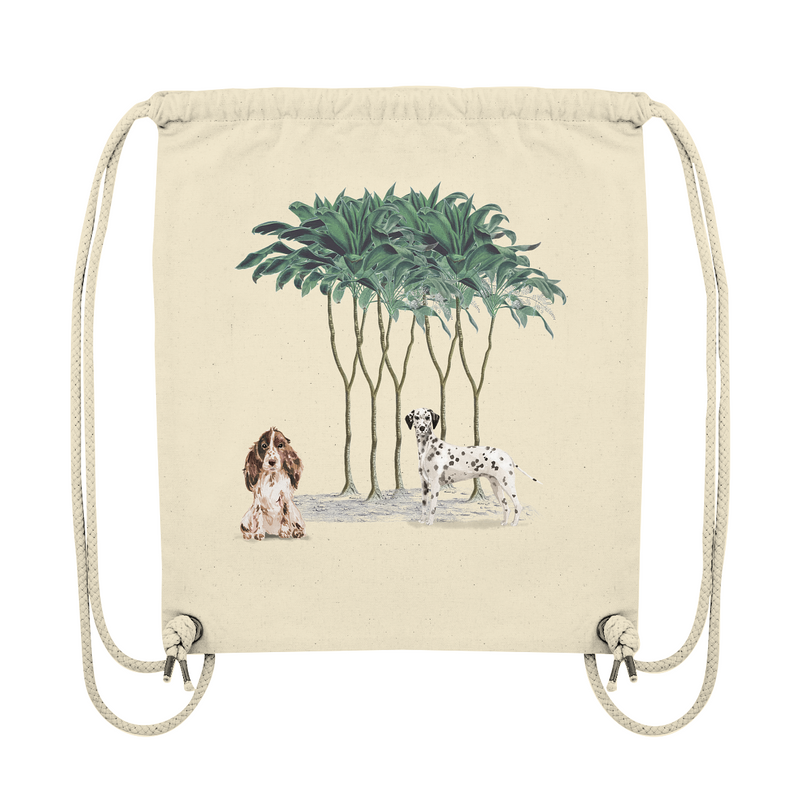 Jungle Dogs: Tote Bag mit Dalmatiner und Cocker Spaniel - Organic Gym-Bag - wauwau-wow.com
