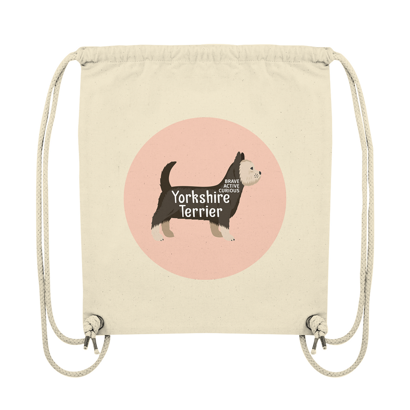 Organic Gym Bag mit Yorkshire-Terrier-Motiv - wauwau-wow.com