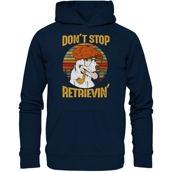 """Don´t stop Retrievin´"": Organic Hoodie (Unisex) mit Golden-Retriever-Motiv - wauwau-wow.com"