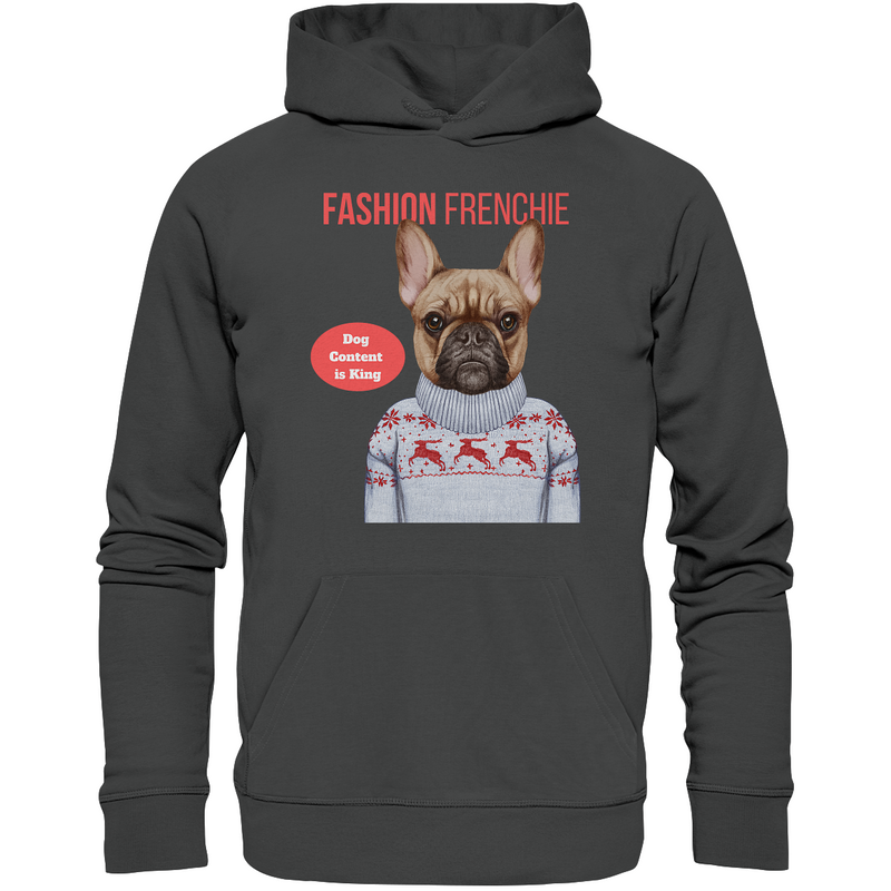 """Fashion Frenchie"": Organic Shirts - Organic Hoodie - wauwau-wow.com"