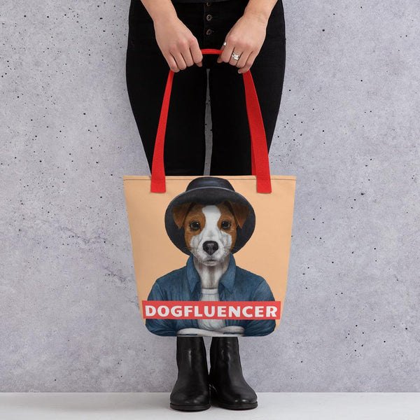 Dogfluencer: Tote Bag mit Parson(Jack)-Russell-Terrier-Motiv - wauwau-wow.com