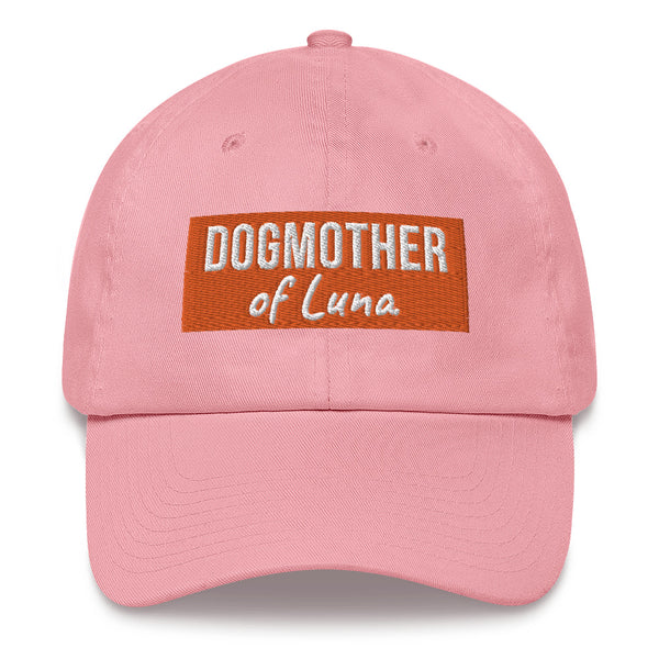"""Dogmother of ..."": Mit Hundename nach Wahl personalisierbare Cap (bestickt) - wauwau-wow.com"