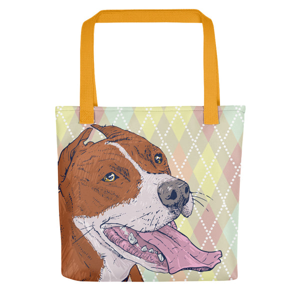 Stylishe Tote Bag mit Pitbull-Illustration - wauwau-wow.com