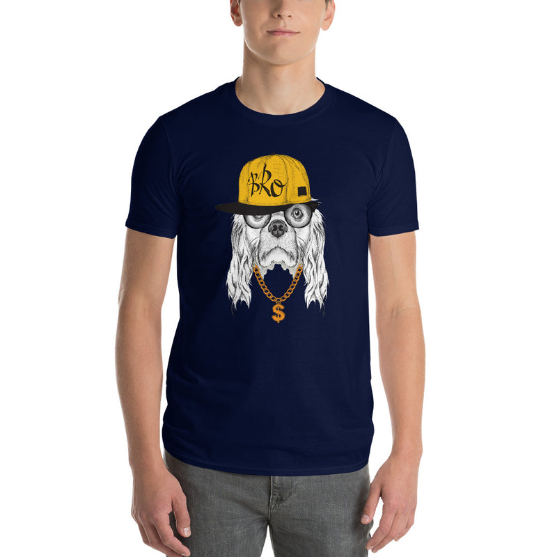 Herren-T-Shirt mit origineller HipHop-Spaniel-Illustration - wauwau-wow.com