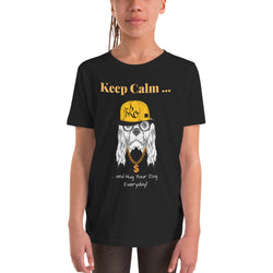 Witziges Kinder-T-Shirt (Unisex) mit HipHop-Hund - wauwau-wow.com