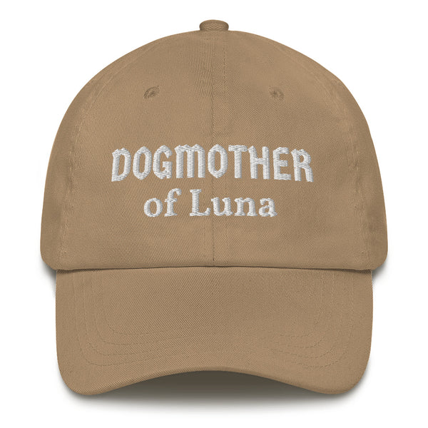 """Dogmother of ..."": Mit Hundename personalisierbare Cap (bestickt) - wauwau-wow.com"