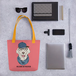 Tote Bag mit Hipster-Retriever-Motiv - wauwau-wow.com