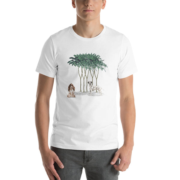 """Jungle Dogs"": Trendiges T-Shirt mit Dalmatiner & Cocker Spaniel - wauwau-wow.com"