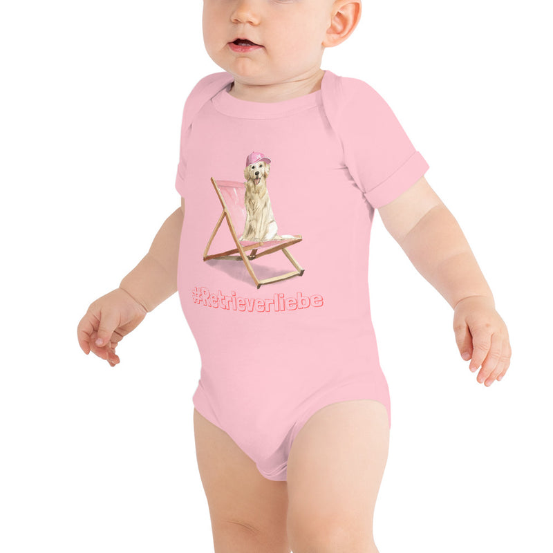 "Baby-Body mit witziger ""Retrieverliebe""-Illustration - wauwau-wow.com"