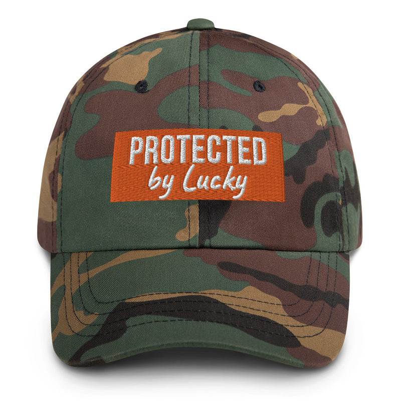 """Protected by ..."": Mit Hundename nach Wahl personalisierbare Cap (bestickt) - wauwau-wow.com"