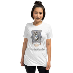 Baumwoll-T-Shirt mit witziger Boston-Terrier-Illustration - wauwau-wow.com