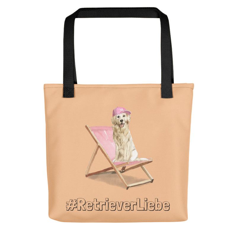 """Retrieverliebe"": Stylishe Tote Bag mit Golden-Retriever-Motiv - wauwau-wow.com"