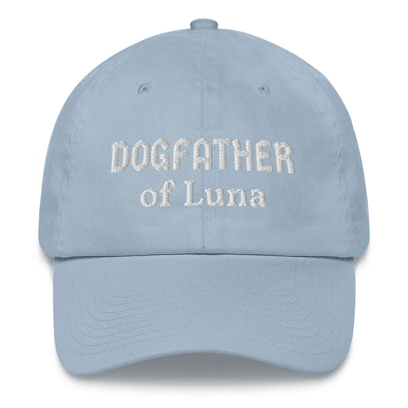 """Dogfather of ..."": Mit Hundename personalisierbare Cap (bestickt) - wauwau-wow.com"