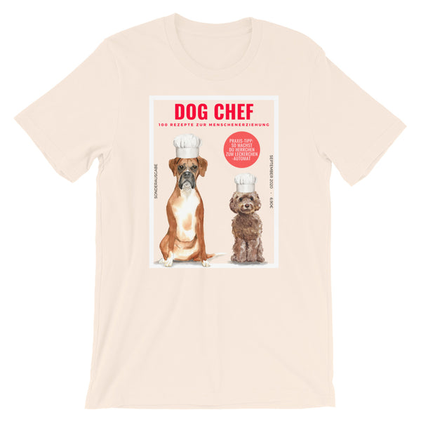 """Dog Chef""-Magazin: Witzig-satirisches Hunde-T-Shirt - wauwau-wow.com"